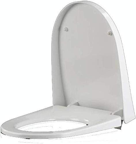 S-優雅な便座U型便器蓋、1秒で分解できますバスルームと洗面所のミュート便座、A-42-49cm * 37cm