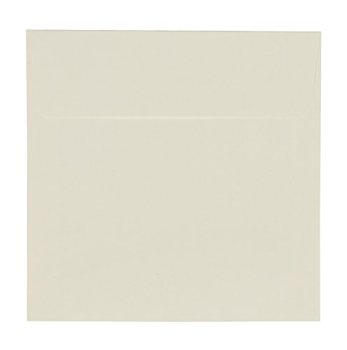 (Square Envelopes - 50-Pack Ivory Square Flap Envelopes for Invitations, Announcements, Photos, Weddings, Engagement Parties, Special Events, 5.5 x 5.5 Inches, 120GSM Paper )