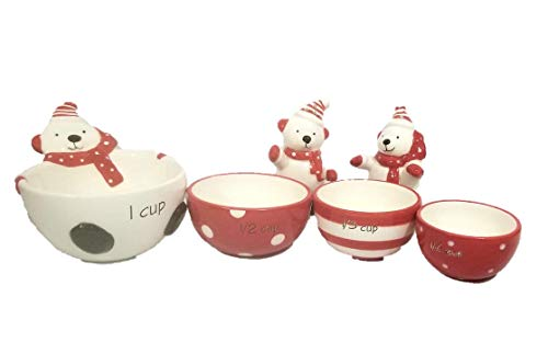 Holiday Polar Bear Measuring Cups and Salt & Pepper Shakers ()