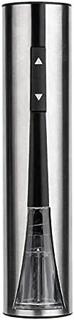 Abridores de botellas de vino eléctrico abridor de botellas de acero inoxidable recargable Sacacorchos eléctrico abridor de vino con cortador de hoja Cable cargador USB