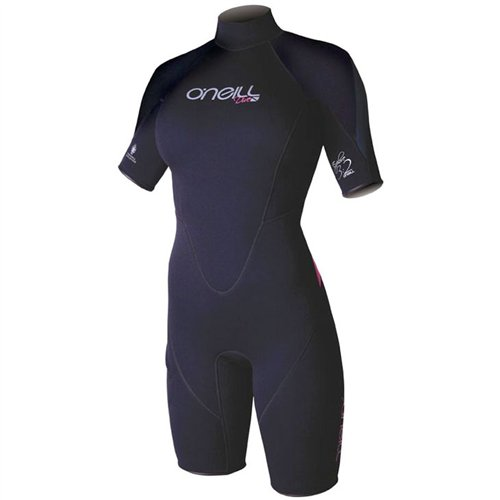 O'neill Women's Explore 3/2 Short Sleeve Spring Wetsuit (Black, 10) by O'Neill