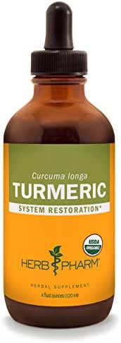 Herb Pharm Certified Organic Turmeric Root Liquid Extract for Musculoskeletal System Support - 4 Ounce