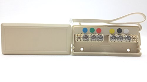(Leviton Telephone Wire Junction Box 6-Wire Ivory C2618-I)