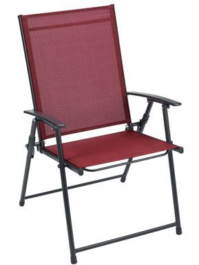(FOLDING SLING CHAIR RED by LIVING ACCENTS MfrPartNo ZS151180)