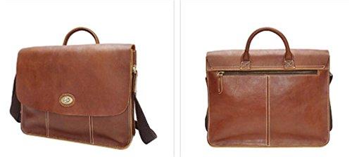 Hombres de Cuero de SHOUTIBAO brown light perfectos Moda de Regalos Oblicuo Brown Viajes Maletín la los Dark Cuero Bolsos Bolsos de Brillante Compras Trabajo t7wxSwqv