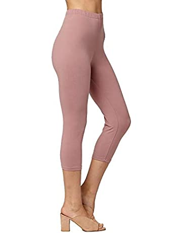 b7c6c33243f606 Conceited Premium Ultra Soft High Waisted Capri Leggings for Women -  Regular and Plus Size -