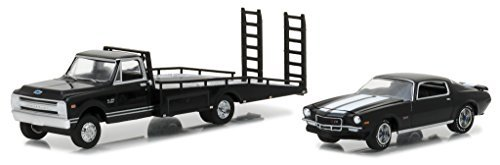 1970 Chevrolet C-30 Ramp Truck and 1971 Chevrolet Camaro Z/28 Black Hobby Exclusive 1/64 Diecast Models by Greenlight 29935