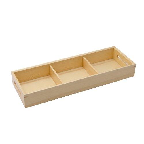 WOODEN KIWAMI THREE DIVIDED BENTO BOX by tabletop king
