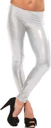 Hot & Sexy Metallic Liquid Wet Look Patent Tights Leggings Womens Shiny Pants