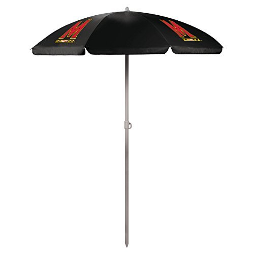 NCAA Maryland Terps Portable Sunshade Umbrella, Black by Picnic Time by PICNIC TIME