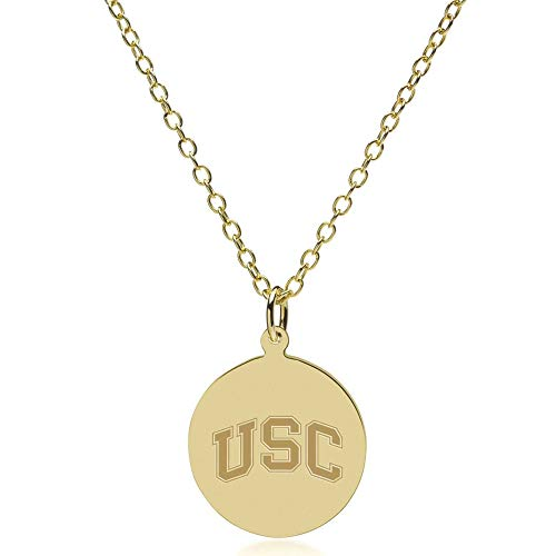 M. LA HART University of Southern California 18K Gold Pendant & Chain