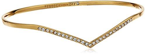 Rebecca Minkoff Thin V Cuff Gold Bangle Bracelet