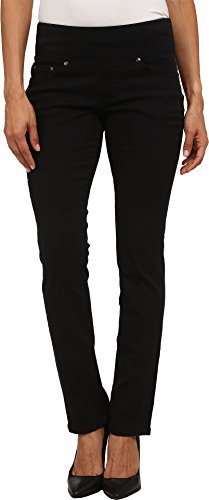 Jag Jeans Women's Petite Peri Straight Pull on Jean, Black Twill, 2P