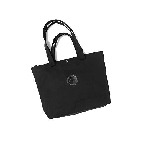 Canvas Tote Handbag Shoulder Bag Purses For Women (Black Double Handle)