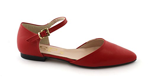 Woman 019 Follie Sandal Ballerina Rosso Divine Red Toe Shoe 5XTdq7w