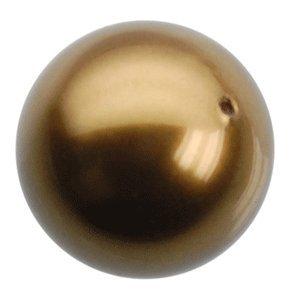 Swarovski Crystal Elements Pearl 8mm antique brass (50 Pack)