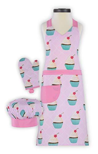 Handstand Kitchen Child's Cupcake Delight 100% Cotton Apron,