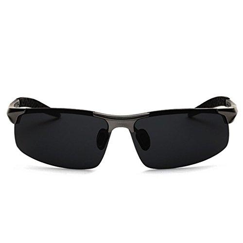 Espejo Sol Conducción HT Gris de con BEI Espejo de Marco polarizadas Conducción con Medio de Gafas de magnesio wp4zwq