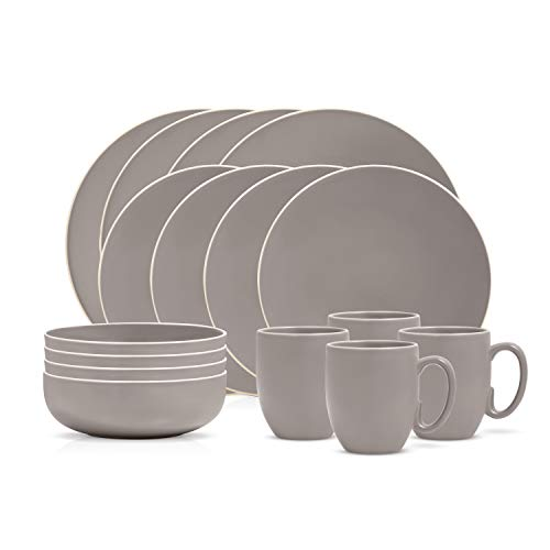 Wedgwood 40016027 Vera Color, 16 Pieces, Gray