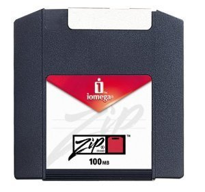 Zip 100MB PC Formatted Disk Sg by Iomega