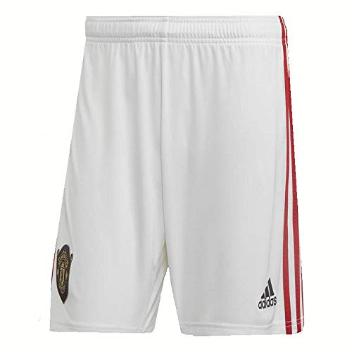 adidas Manchester United FC Official 2019/20 Home Shorts - Adult - White - ()