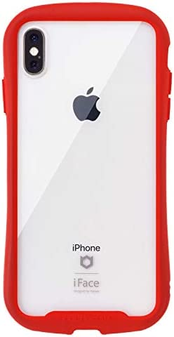 iFace Reflection iPhone XS/X ケース クリア 強化ガラス [レッド]