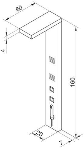 Columna de hidromasaje KIRA plata: Amazon.es: Bricolaje y herramientas