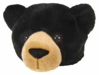Wild Republic Black Bear Plush Hat, Kids Gifts, Dress Up, Bear Costume, 12