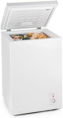 Klarstein Iceblokk congelador horizontal (100 litros capacidad, 75 kWh/a, clase eficiencia energética A+, 4 estrellas, bajo consumo, temperatura entre -26° y -15° C, nevera arcón) - blanco: Amazon.es: Grandes electrodomésticos
