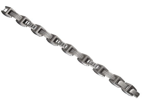 Caseti AN74 Stainless Steel and Tungsten Bracelet (Men Handband Stainless Steel compare prices)
