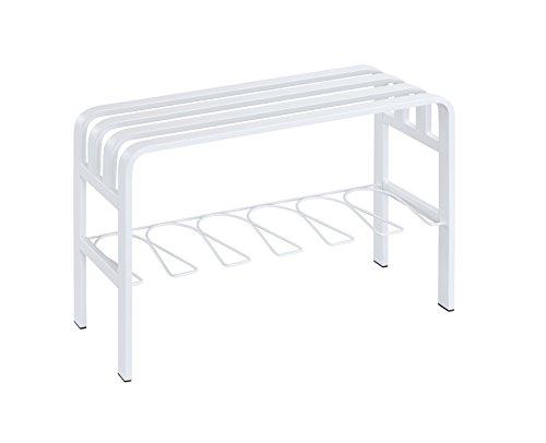 Proman Products ST17049 Horizon White Door Entryway Bench, White, White