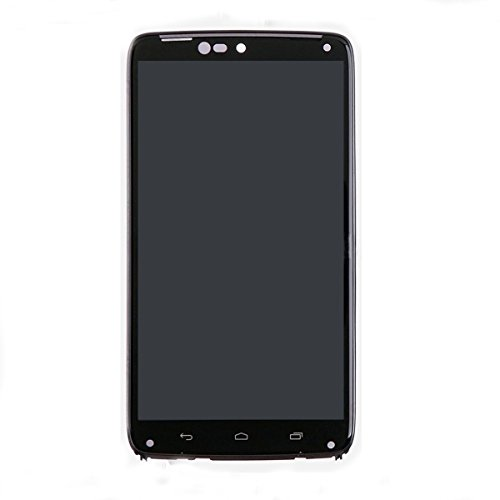KNONEW For Motorola Droid Turbo XT1254 LCD Display Touch Screen Digitizer Assembly Replacement +Frame Tools(Black) by KNONEW (Image #3)