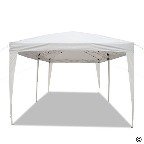 Goutime 10×20 Ft Ez Pop Up Canopy Tent with 4Pcs 10Ft Removable Sidewalls and Wheeled Bag for Outdoor Party Events