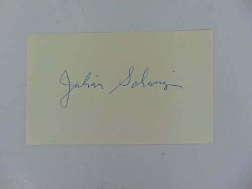 """""""Nobel Prize in Physics"""" Julian Schwinger Hand Signed 3X5 Card Todd Mueller COA from Unknown"""