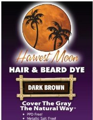 Natural Dark Brown Hair Dye 3-pack with Kit (300 Grams) by Moon Harvest