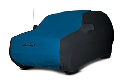 Coverking Custom Car Cover for Select Toyota FJ Cruiser Models - Satin Stretch (Grabber Blue with Black Sides)
