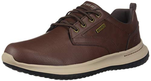 Skechers Men's DELSON-Antigo Waterproof Bungee Slip ON Sneaker, RDBR, 11 Medium ()