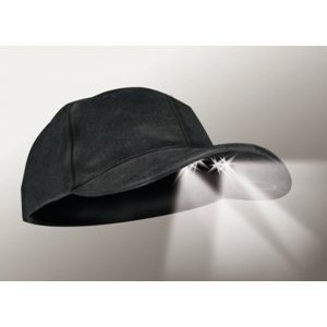 Led Cap (Panther Vision CUB3-278077 4 Ultra Bright White Led's Lighted Hat Black )
