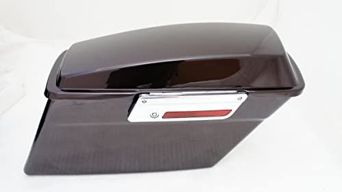 HDB-001-BC Black Cherry Complete Stock Hard Saddlebags for Harley Touring