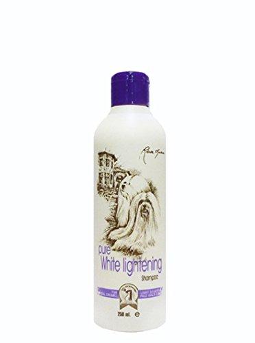 #1 All Systems Aufhell-Hundeshampoo für weißes, cremefarbenes und hellsilbernes Fell (250 ml)