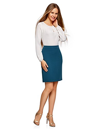 Femme Collection Coupe Bleu Basique 7400n oodji Droite Jupe WgBqwIxf