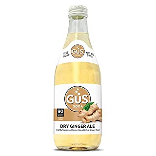GuS Soda - Extra Dry Ginger Ale - 12 oz (24 Glass Bottles)