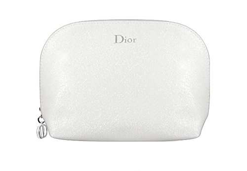 dior-fashion-pearl-textured-glitter-silver-white-cosmetics-bag