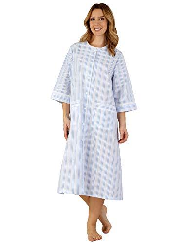 Women's Blue Woven Hc3224 Gown Robe Slenderella Dressing Striped RfZwxq