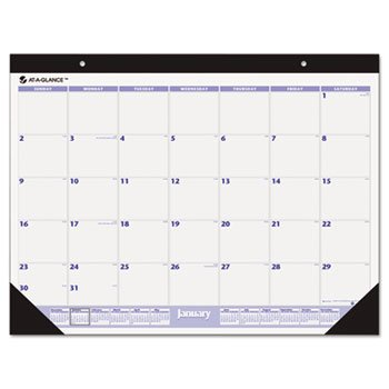 AT-A-GLANCE Recycled Desk Pad, 22 x 17 Inches, Black, 2013 (SW200-00)