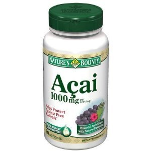 Nature's Bounty Acai 1000mg Softgels - 60 Count Bottle