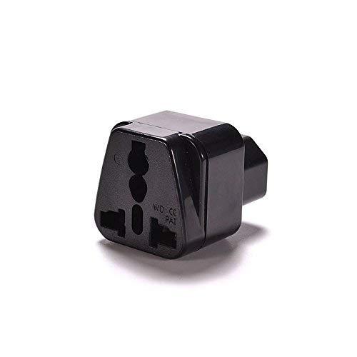 (IEC C14 to Universal Female AU US UK EU C13 &1 (2in1) Adapter Power)