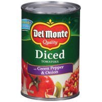 2021 autumn and winter new Del Monte Diced Tomatoes with Ranking TOP4 Pepper Green Can Onion 14.5oz