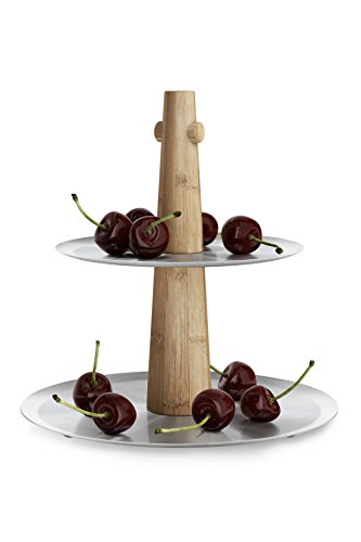 ZACK Stainless Steel Sevore Cake Stand with Rubber Feet, 8.66'' x 6.89'' x 9.13'', Silver Metallic by Zack