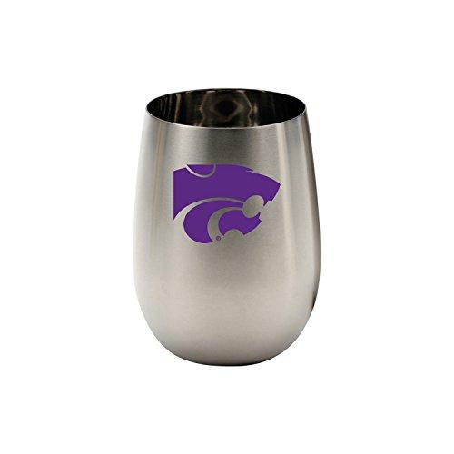 Wine Things Kansas State University Stainless Steel Glass, - State Wine University Glass